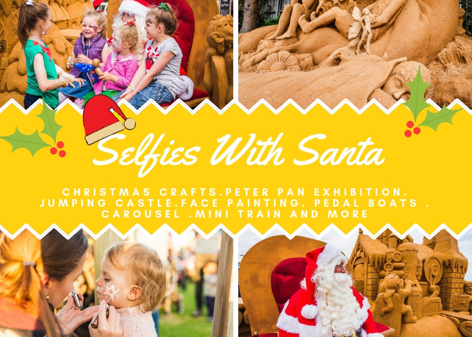 Selfies with Santa at Sand Sculpting